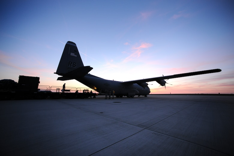 SPANGDAHLEM AIR BASE, Germany – A C-130J Super Hercules from the 37th Airlift Squadron, Ramstein Air Base, Germany, waits to be loaded with cargo here in support of Operation Odyssey Dawn March 21. Joint Task Force Odyssey Dawn is the U.S. Africa Command task force established to provide operational and tactical command and control of U.S. military forces supporting the international response to the unrest in Libya and enforcement of United Nations Security Council Resolution (UNSCR) 1973. UNSCR 1973 authorizes all necessary measures to protect civilians in Libya under threat of attack by Qadhafi regime forces.  JTF Odyssey Dawn is commanded by U.S. Navy Admiral Samuel J. Locklear, III. (U.S. Air Force photo/Senior Airman Nathanael Callon)