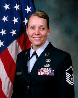 MSgt Sandra Plentzas,944th Fighter Wing chaplain assistant, was recently awarded the John Levitow Award following graduation from Senior NCO Academy March 11. (Courtesy photo)