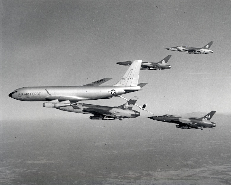 Tankers were essential in allowing heavy fighter-bombers to reach North Vietnamese targets and return. (U.S. Air Force photo)