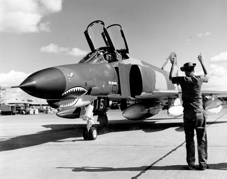 The F-4E had many improvements over earlier F-4s -- most notably its internal 20mm gun. The first F-4Es arrived in Southeast Asia in late 1968. (U.S. Air Force photo)