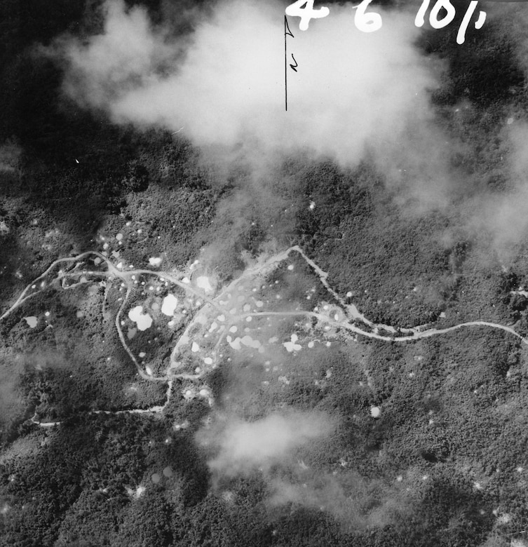 Bridges on the Ho Chi Minh Trail, note the bomb crates. The U.S. Air Force bombed key points on the Ho Chi Minh Trail. (U.S. Air Force photo).