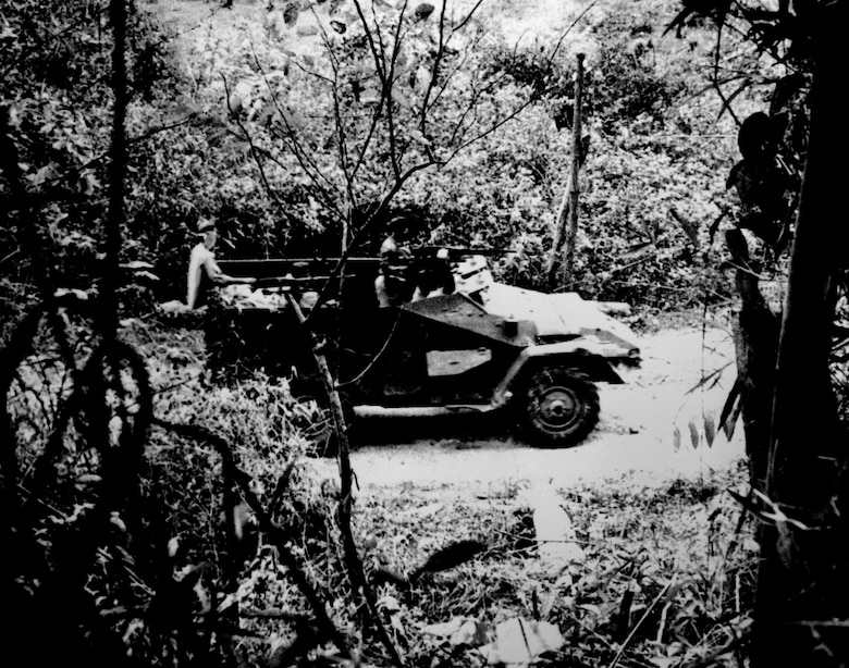 North Vietnamese armored car on the Ho Chi Minh Trail. (U.S. Air Force photo).