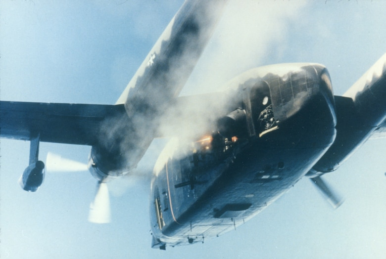 U.S. Air Force gunships, like this AC-119K, were potent weapons against communist supply lines. (U.S. Air Force photo).