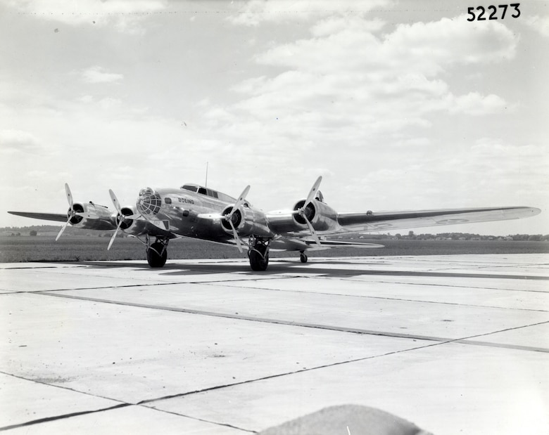 Boeing Airplane Co. unveiled its Model 299, which was eventually designated the B-17 Flying Fortress, in the summer of 1935. (U.S. Air Force photo)
