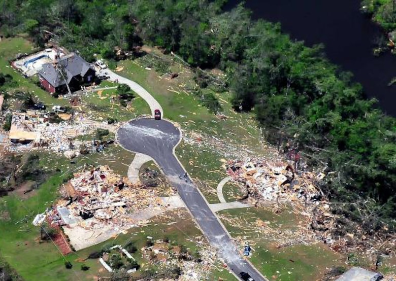 A Civil Air Patrol aircrew took this image April 29, 2011, in Jefferson County, Alabama. Members of the CAP are flying in support of first responders and state and local officials as they assess tornado damage to the region. (Courtesy photo)