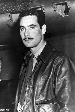 "Lt. Boyd D. ""Buzz"" Wagner, Commanding Officer of the 17th Pursuit Squadron in the Philippines, was the first AAF ace of World War II. (U.S. Air Force photo)"