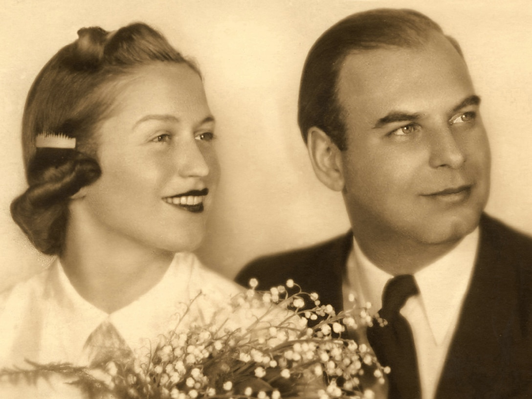 Eva Clarke's parents, Anka and Bernd Nathan, are shown here on their wedding day, May 15, 1940. They were taken prisoner and put in concentration camps, just because they were Jewish. They spent three years at Terezin, until the end of September 1944, when Eva's father was sent to Auschwitz-Birkenau. The next day, her mother volunteered to go and be with him, but she never saw him again. She later found out that he'd been shot dead Jan. 18, 1945, just one week before the Russian army liberated the concentration camp there. (Courtesy photo)
