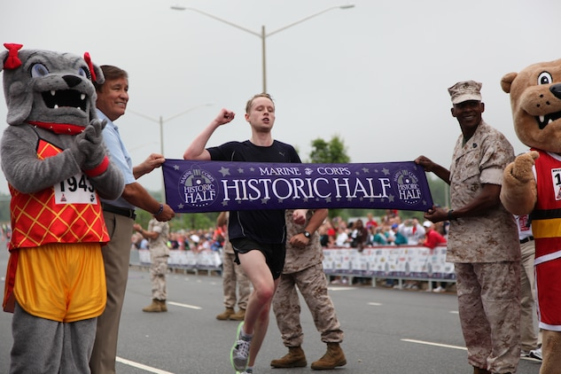 On May 14, thousands of runners took to the streets of remarkable Fredericksburg, Va., for the Marine Corps Marathon Historic Half. Wyatt Boyd, a Washington native, finished 1st with a time of 1 hour, 13minutes and 53 seconds.