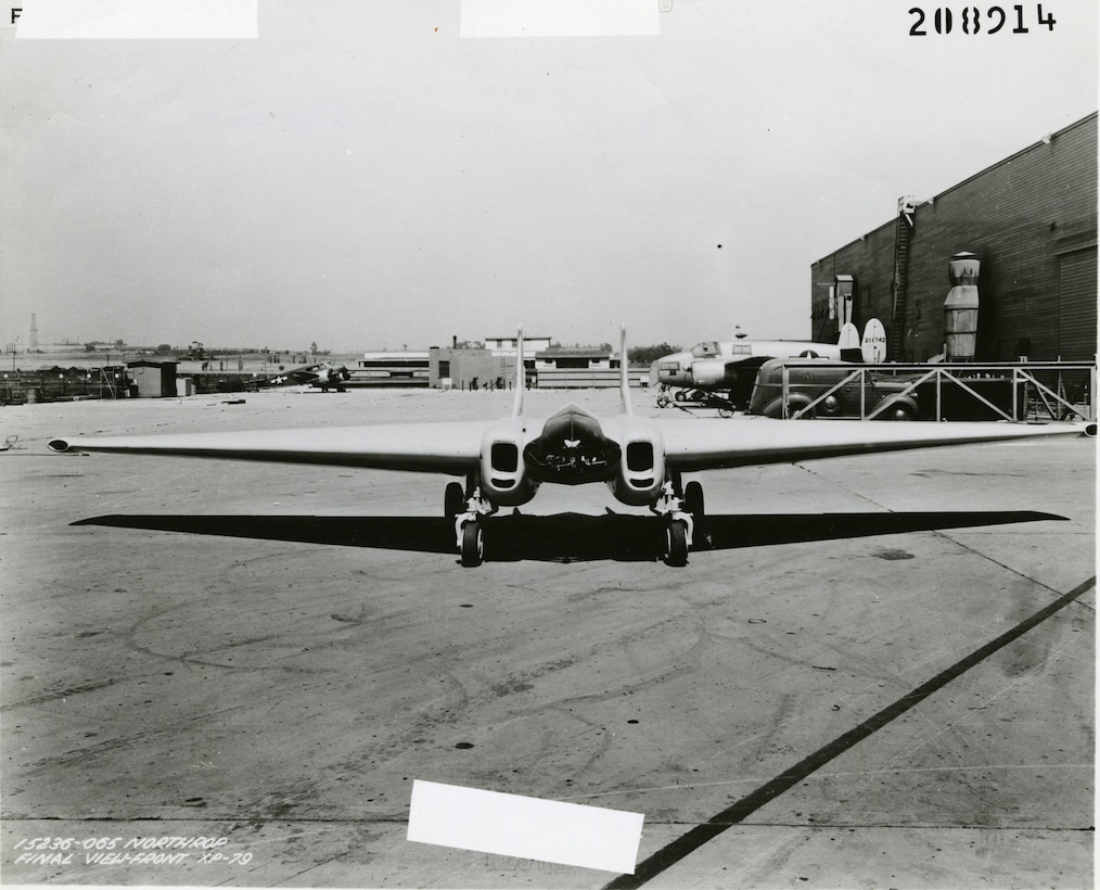 Northrop XP-79B front  view. (U.S. Air Force photo)