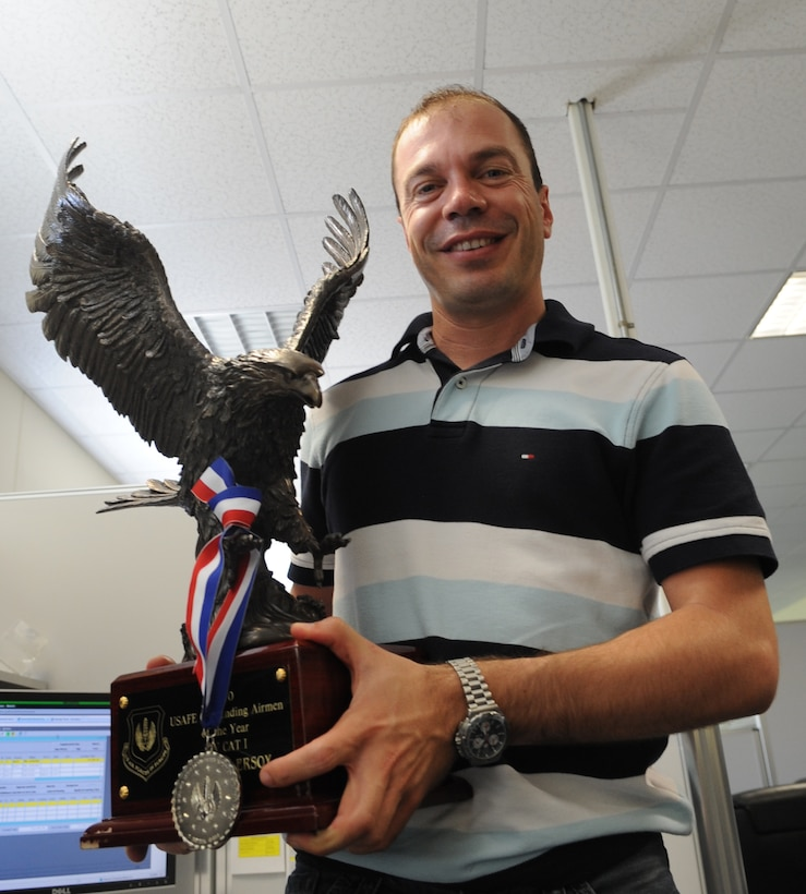 Eren Ersoy, a budget analyst from the 39th Comptroller Squadron, recently earned the Civilian Category I  in U.S. Air Forces in Europe's 2010 Outstanding Airmen of the Year. (U.S. Air Force photo by Airman 1st Class Clayton Lenhardt/Released)