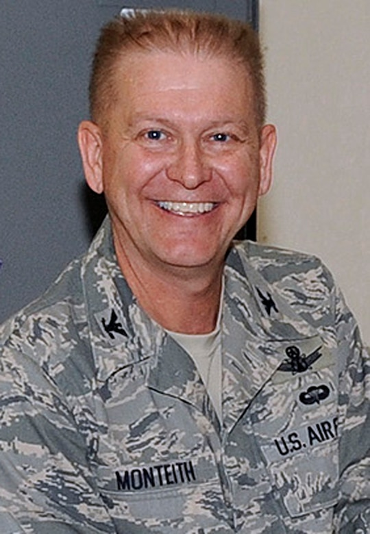 SCHRIEVER AIR FORCE BASE, Colo. -- Col. Wayne Monteith, 50th Space Wing commander. (U.S. Air Force photo)