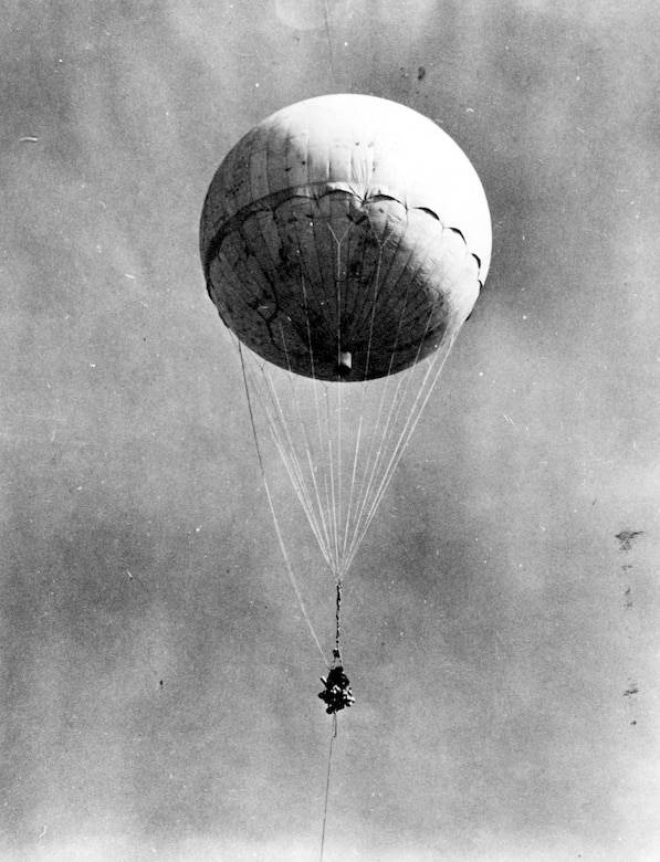 Japanese balloon bomb during World War II. (U.S. Air Force photo)