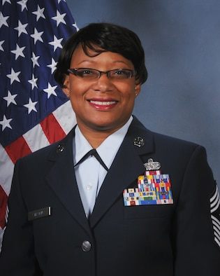 Chief Master Sgt. Karen D. Stevens, Command Chief, 126th Air Refueling Wing.