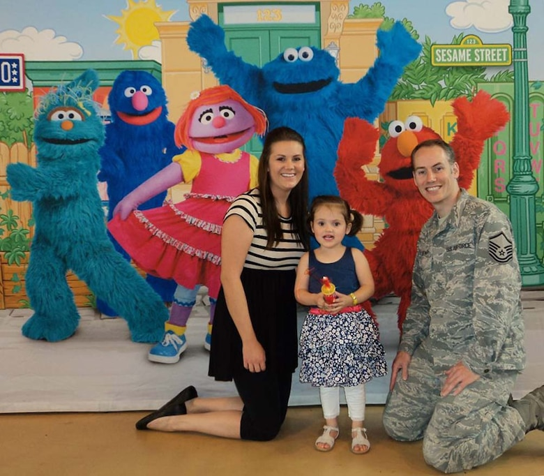 ROYAL AIR FORCE LAKENHEATH, England - Master Sgt. Adam Joyner, wife Maria and daughter Melissa are beneficiaries of the 48th Medical Operations Squadron's Educational and Developmental Intervention Services (EDIS). The EDIS program is geared towards supporting servicemembers who have children with special needs. (Courtesy photo)