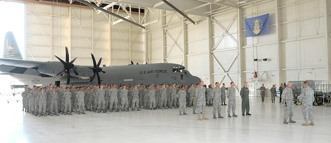 Major General David Baldwin, Adjutant General for California visits the 146th AW Oct. 1, 2011.