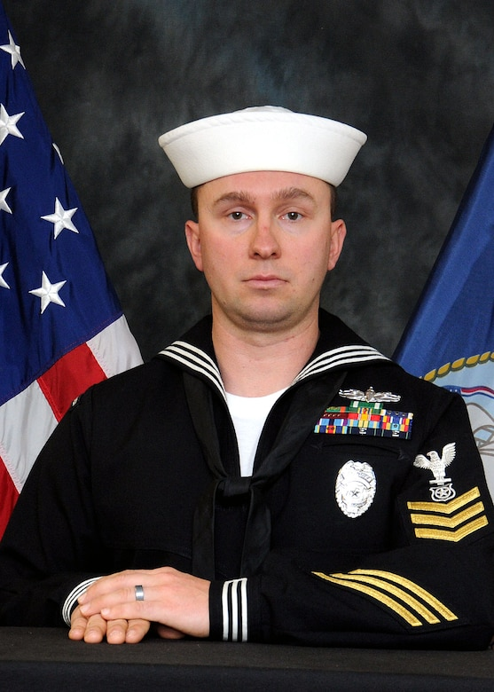 Naval Support Activity Sailor of the Year Petty Officer 1st Class Jacob Moore