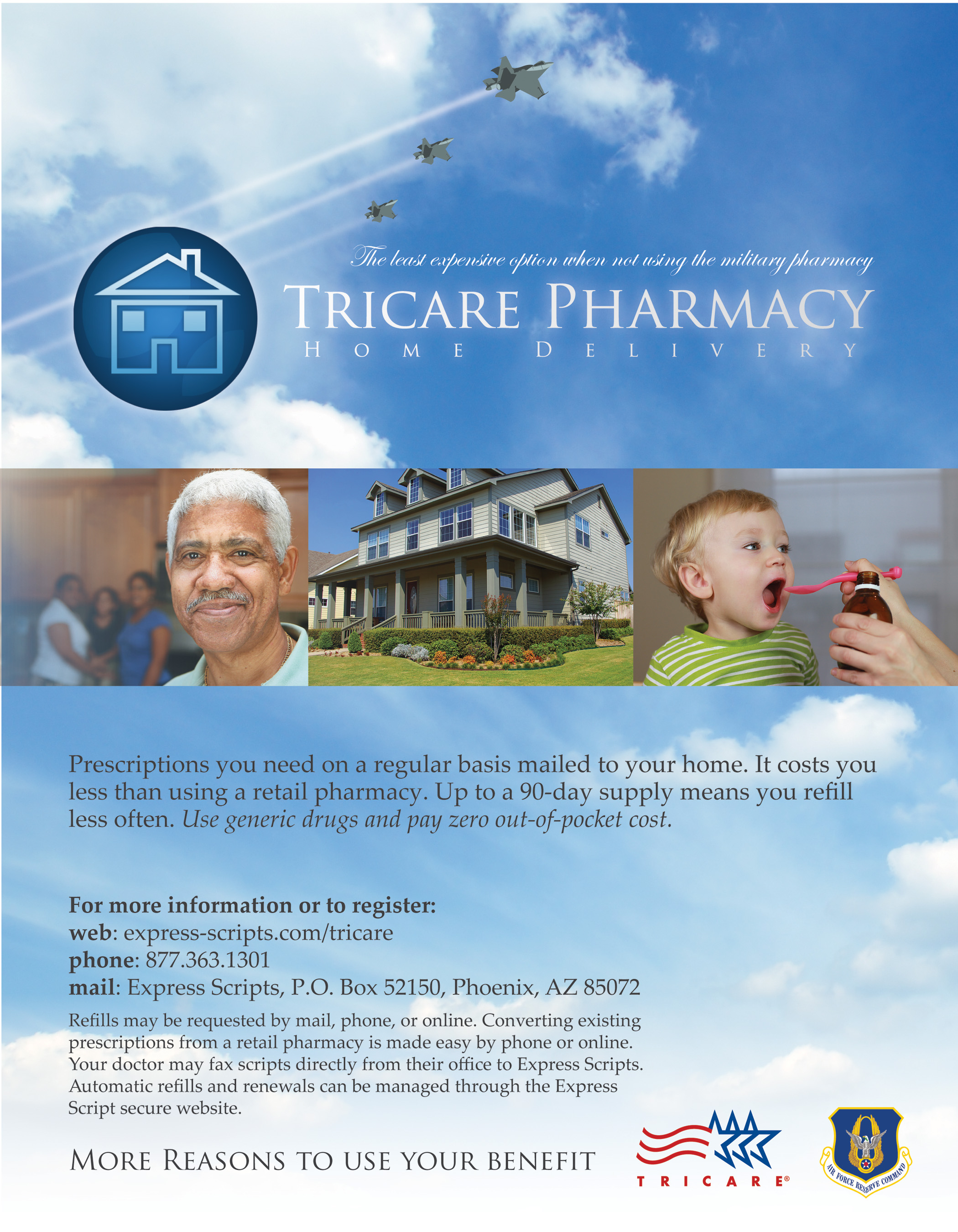 From the Tricare Advisor: Pharmacy home delivery program is