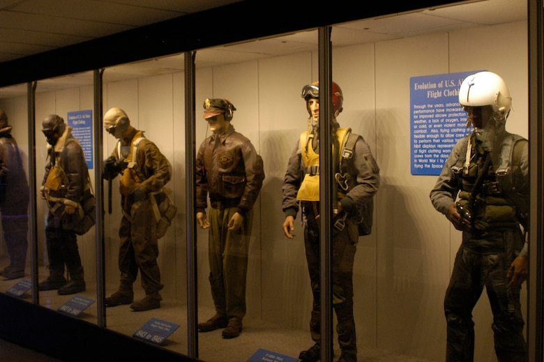 Evolution of USAF Flight Clothing exhibit at the National Museum of the U.S. Air Force. (U.S. Air Force photo)