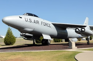 The RB-47E on display in the Tinker AFB Heritage Airpark, tail number 0-34275 (S/N 53-4257), was a dedicated photographic reconnaissance version of the Boeing B-47 Stratojet. It was a machine born from German science, baptized in American sacrifice and an inevitable victim of Cold War innovation.  The aircraft on display at Tinker never saw the frontlines of the Cold War during its entire career with the Wright Air Development Center at Wright-Patterson AFB, Ohio.
