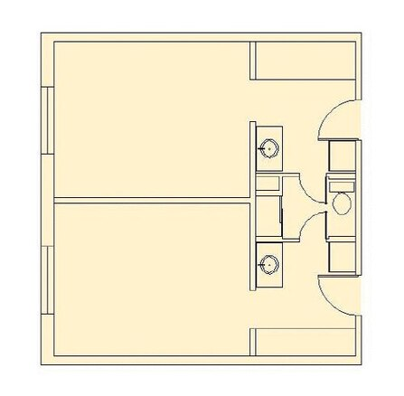 Air Force Academy Unaccompanied Housing - Floor Plan