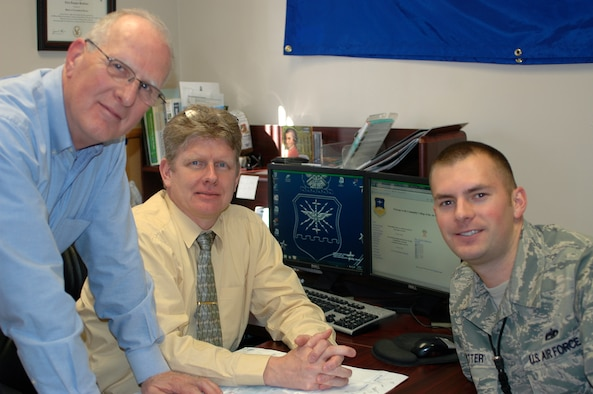This year 338 Team Hill members earned their associates degree through the Community College of the Air Force, which exceeds last year's record of 268. Staff Sgt. Derrick Potter meets with education specialist Mark Kuerth, left, and CCAF counselor Allen Boettcher for an education counseling session at the Hill Education Center. (U.S. Air Force photo by Andrea Mason/Released).