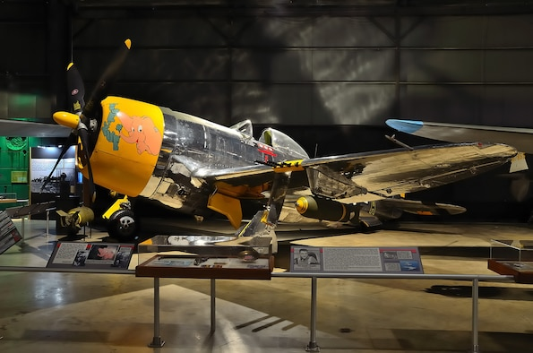 DAYTON, Ohio -- Republic P-47D (bubble canopy version) in the World War II Gallery at the National Museum of the United States Air Force. (Photo courtesy of Paul Gabura)