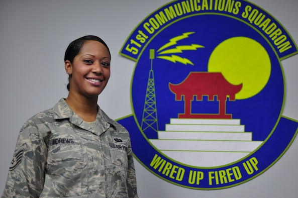 Staff Sgt. Antwaynete Andrews, 51st Communications Squadron (U.S. Air Force photo/Tech. Sgt. Chad Thompson)