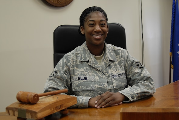 Staff Sgt. Natasha Blue, 51st Fighter Wing Staff Judge Advocate office paralegal. (U.S. Air Force photo/Tech. Sgt. Eric Petosky)