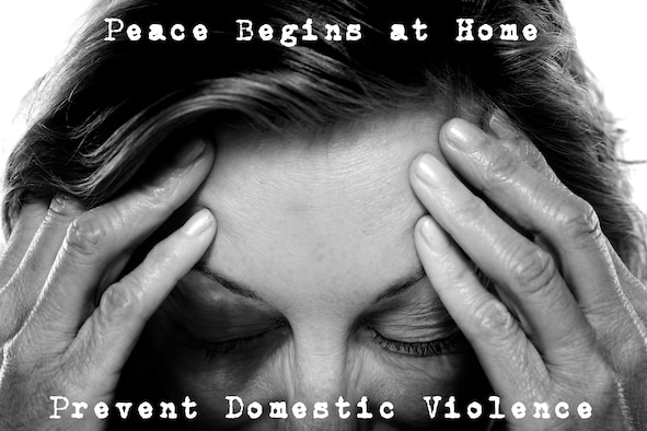 """October is annually observed as National Domestic Violence Awareness Month. This year's theme is """"Peace Begins at Home."""" For more information on prevention programs available or to report suspected child or partner abuse, please contact the Family Advocacy Program at 229-257-4805. (U.S. Air Force illustration by Staff Sgt. Jamal D. Sutter/Released)"""