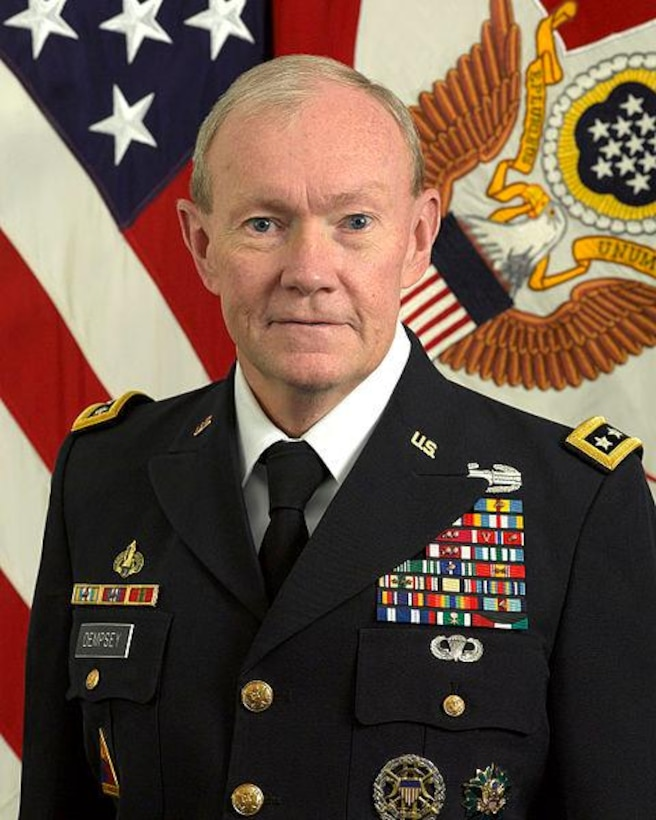 The 18th Chairman of the Joint Chiefs of Staff, Army General Martin E. Dempsey.