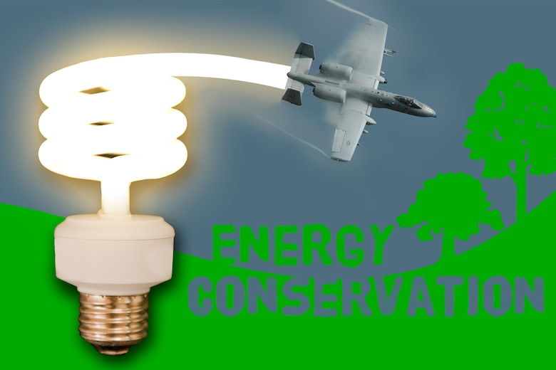October is Energy Awareness Month. Moody's goal this year is to reduce energy consumption by 21 percent, 3 percent more cutback than last year. With this reduction the Air Force would save approximately $400,000. Help kick off the new fiscal year by doing what you can to conserve energy.  (U.S. Air Force illustration by Staff Sgt. Jamal D. Sutter/Released)
