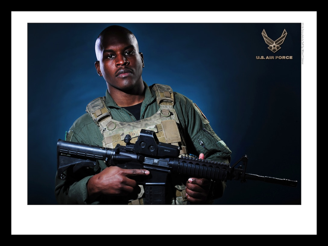 U.S. Air Force Aerial Gunner 18x24 inches @ 300 PPI (U.S. Air Force photo/layout by Staff Sgt. William P. Coleman/Released)