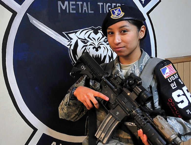 Airman 1st Class Gloria Moctezuma, 51st Security Forces Squadron (U.S. Air Force photo/Staff Sgt. Daylena Gonzalez)