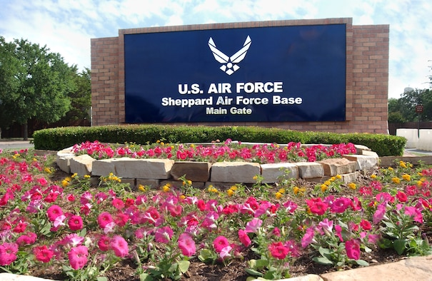 Sheppard Air Force Base's main gate is set to undergo several months of construction starting Oct. 31, 2011, which will affect vehicle traffic. (U.S. Air Force courtesy photo)