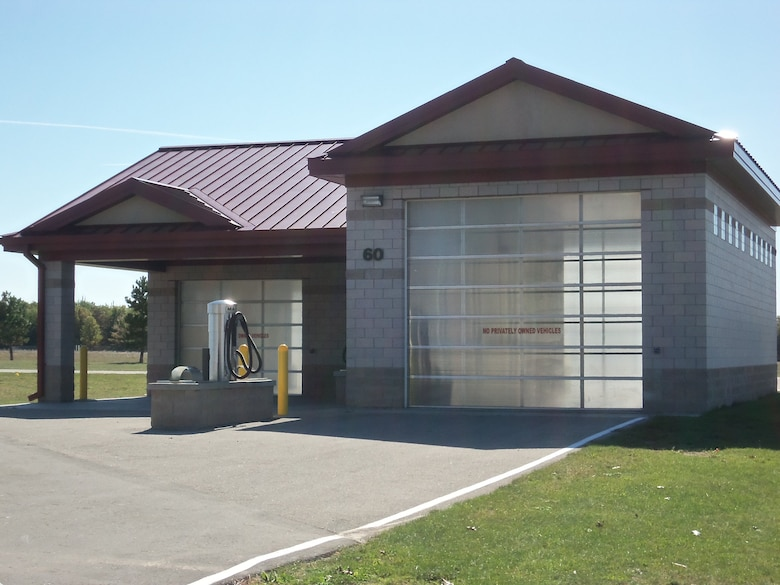 The Alpena CRTC Vehicle Maintenance facility offers a two-bay wash rack for use.