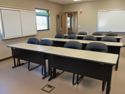 The Alpena CRTC Vehicle Maintenance facility features a training classroom which can accommodate 12 people.