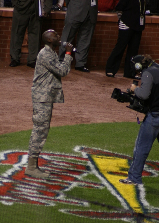 Staff Sgt. Brian Owens, of the 571st Air National Guard Band of the Central States,