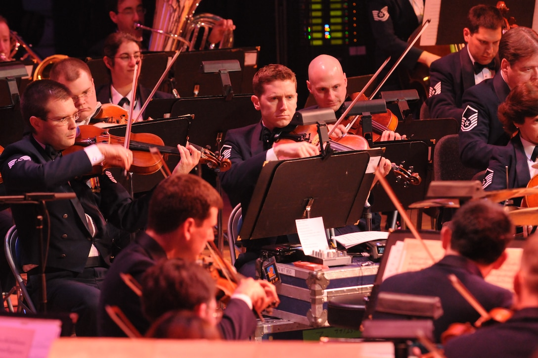 Members of the Air Force Strings perform at DAR Constitution Hall