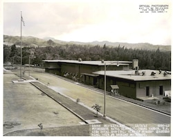 The Aiea Naval Hospital here was the primary rear-area hospital for Navy and Marines during World War II. The Nurses' quarters were across the street from the main entrance of the hospital. Today, the same location is home to the Nimitz-McArthur Pacific Command Center.