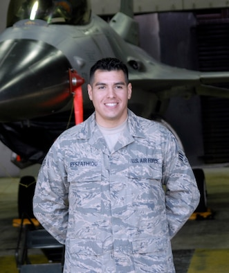 Senior Airman Kostantinos Efstathiou, 36th Aircraft Maintenance Unit. (U.S. Air Force photo/Tech. Sgt. Eric Petosky)