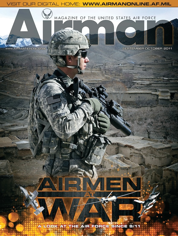 The cover page of the last print issue of Airman magazine. (U.S. Air Force graphic/Luke Borland)
