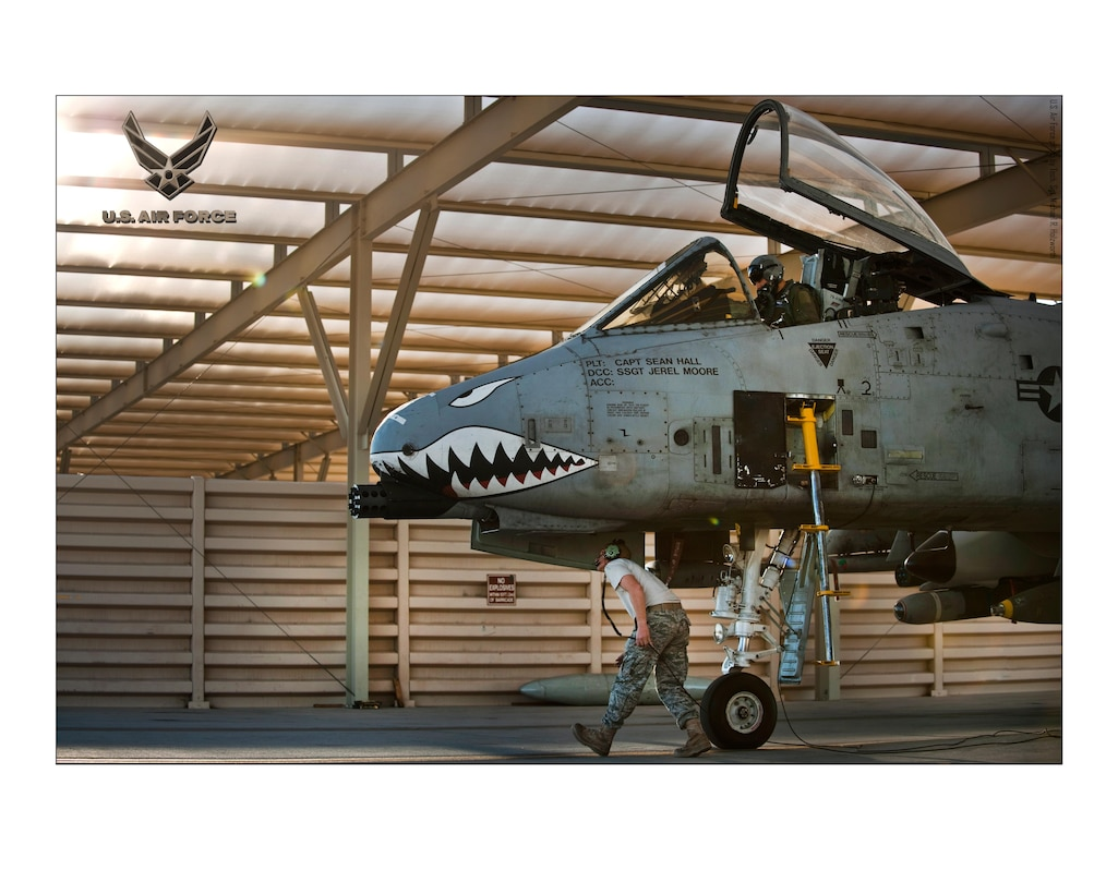 U.S. Air Force A-10 Thunderbolt II Crew Chiefs 24X30 inches @ 300 PPI (U.S. Air Force photo/layout by Tech. Sgt. Michael R. Holzworth/Released)