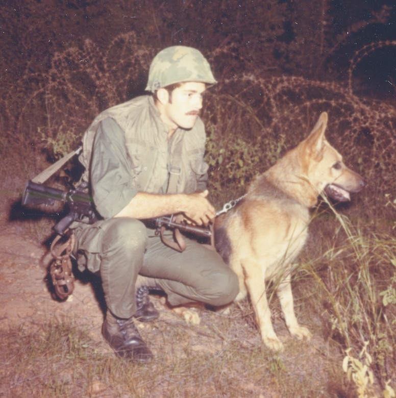 U.S. Air Force dog handlers used a shortened version of the M16, the GAU-5/A. (U.S. Air Force photo).