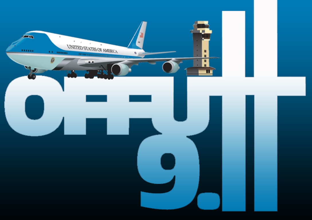 President George W. Bush made a trip to Offutt Air Force Base, Neb. on Sept. 11, 2001 after the terrorist attacks in New York and at the pentagon.(U.S. Air Force graphic by Jeff Gates)