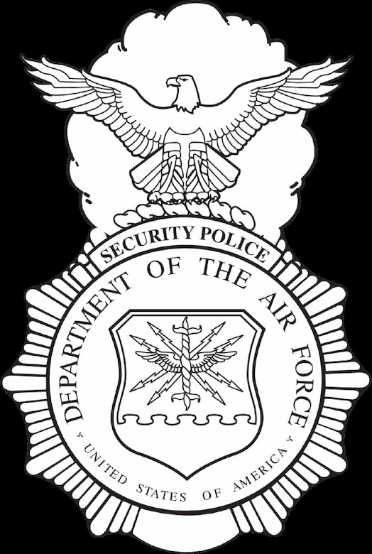 Security Police badge. (U.S. Air Force image).