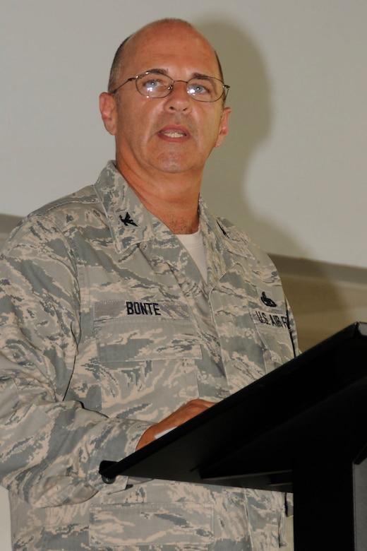 Col. Donald J. Bonte, Jr., Commander, 181IW