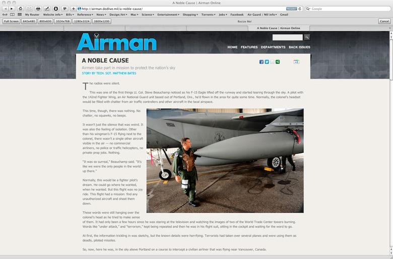 Screen capture of original magazine article.