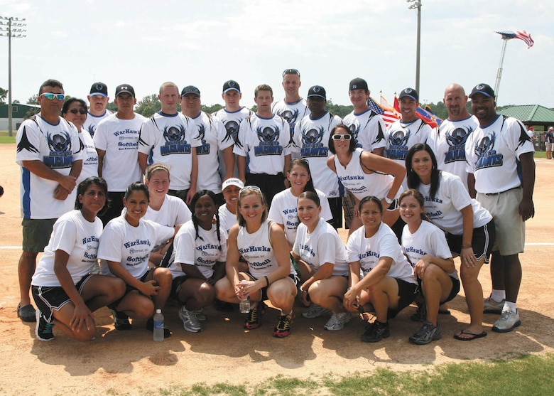 The Joint Base San Antonio Warhawks traveled to Panama City, Fla., to compete in the Military World Softball Tournament Aug. 19-21. The men's and women's teams placed ninth while the coed softball team placed second. The Warhawks next softball tournament will be in late October in Las Vegas. (U.S. Air Force photo/Art Trevino)