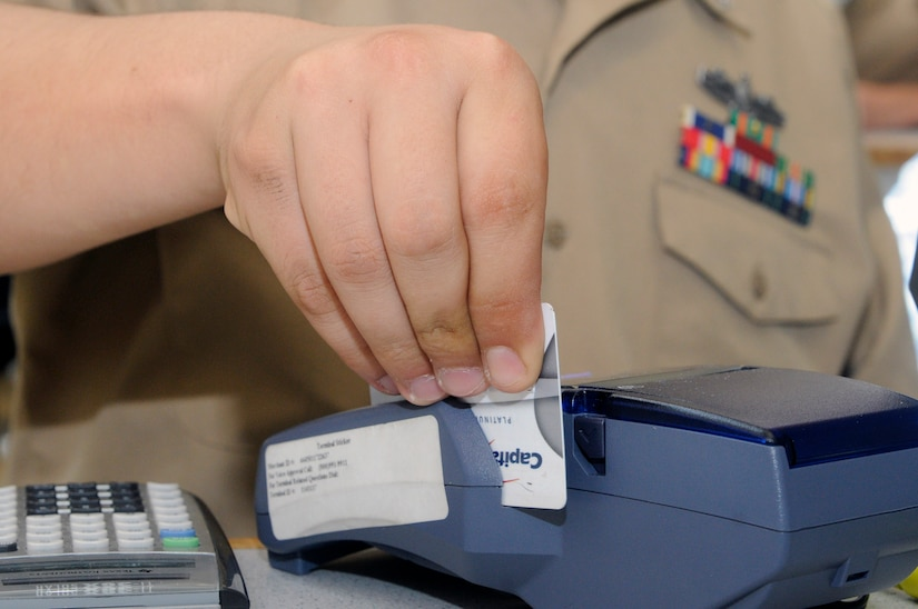 The Joint Base Charleston - Weapons Station Galley now accepts credit and debit cards to make it easier for Sailors to pay for their meals. (U.S. Navy photo/Mass Communications Specialist Jennifer Hudson)