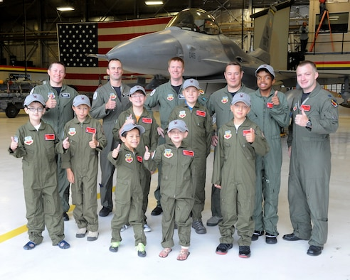 Eight children spent the day with the 388th Fighter Wing Sept. 6 as part of the Pilot For A Day program, a joint effort between the Make-A-Wish Foundation and Hill Air Force Base. (U.S. Air Force photo/Alex Lloyd)